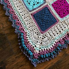 Vibrant Vintage Blanket Border (can be used on any blanket) - free crochet…
