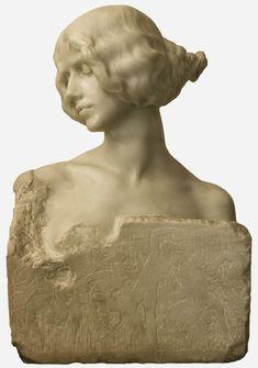Cleo de Merode by Mariano Benliure spanish sculptor Belle Epoque, Art Nouveau, Joan Of Arc Statue, Sculpture Head, Ceramic Figures, Ballet, Heart Art, Painting Inspiration, Statues