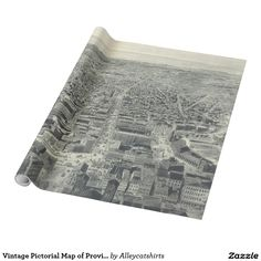 Vintage Pictorial Map of Providence RI (1895) Wrapping Paper