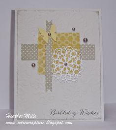 Handmade card by Heather Mills using Be Blessed from Verve.  #vervestamps