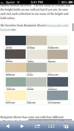 2013 Benjamin Moore bold paint colors
