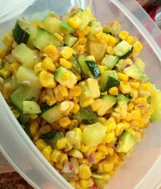Zucchini sweet corn salad = flavor OUT of BOUNDS. You'll want to stab a fork through the screen and grab a bite of this buttery, tangy, fresh yumminess.