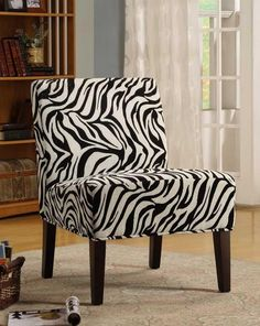 Homelegance 468F6S Lifestyle Armless Lounge Chair in Zebra