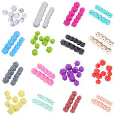 10pcs/Set Silicone Beads Baby Teether Toothbrush Training Baby Dental Care Baby DIY Necklace Bracelet Jewelry Decoration Toy