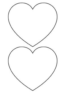 Free Printable Heart Templates – Large, Medium & Small Stencils to Cut Out »:
