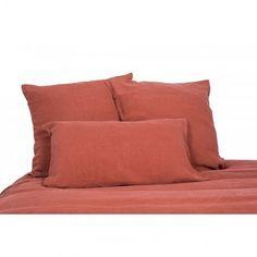 Housse de couette lin lavé stone wash Viti - Terre de sienne - Harmony textile
