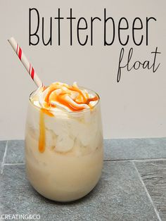 This boozy vanilla ice cream float has cream soda and butterscotch schnapps to get Hogwarts hoppin'. Get the recipe from Creating&Co.   - CountryLiving.com