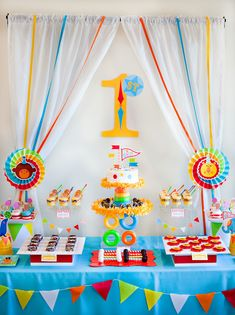 Bright & Colorful Big Top Birthday {Circus Animals} so many cute circus them b.day ideas! Follow the link!