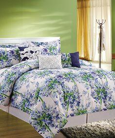 Love this Blue Layla Six-Piece Full/Queen Comforter Set on #zulily! #zulilyfinds