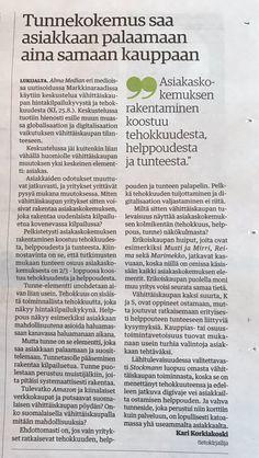 Perjantaina 25.8. Alma Median eri medioissa – mm. Kauppalehdessä – uutisoidussa Markkinaraadissa käytiin keskustelua vähittäiskaupan hintakilpailukyvystä ja tehokkuudesta. Keskustelussa tuoti…
