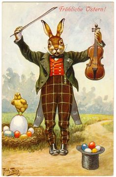 Fröhnliche Ostern! Vintage Easter cards. Repinned by www.gorara.com