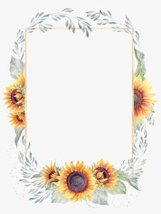 Pin by SeoulBlinds MandaueCebu on Flower border in 2019 Sunflower Png, Watercolor Sunflower, Green Watercolor, Watercolor Flowers, Watercolor Art, Pretty Phone Backgrounds, Cute Wallpaper Backgrounds, Flower Backgrounds, Cute Wallpapers