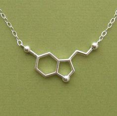 seritonin molecule necklace