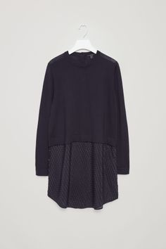 COS image 2 of Tunic with silk skirt in Navy