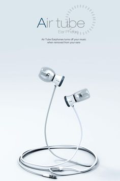 Air tube Ear Phone... Turns off your music when removed!