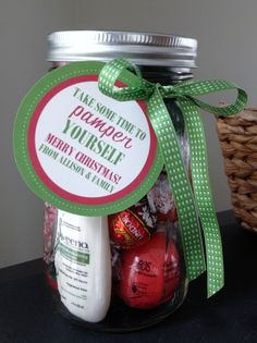 "My Digital Studio - ""Pamper in a Jar"" Tags - Cute for end of the year gift too."