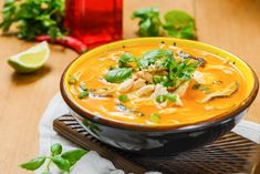 Thai Chicken Recipes with Coconut Milk is One Of Favorite Chicken Of Many People Around the World. Besides Easy to Make and Great Taste, This Thai Chicken Recipes with Coconut Milk Also Healthy Indeed. Tom Yum Soup, Tom Kai Gai Soup, Tom Ka Gai Soup Recipe, Thai Chicken Recipes, Leftover Chicken Recipes, Recipe Chicken, Thai Recipes, Asian Recipes, Appetizers