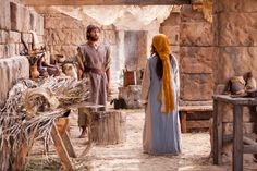 Mary tells Joseph that she is pregnant.