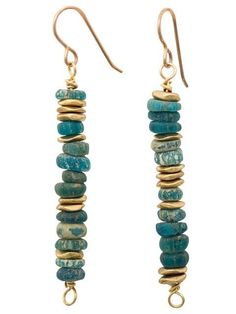 Ancient turquoise glass earrings