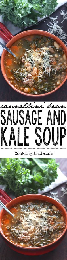 ... vegetalbes, and fresh kale for Cannellini Bean, Sausage and Kale Soup