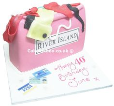 Shopping Bag Birthday Cake