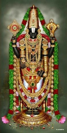 Lord Balaji alamkara rupa with tulasi mala Lord Murugan Wallpapers, Lord Krishna Wallpapers, Lord Ganesha Paintings, Lord Shiva Painting, Krishna Statue, Krishna Radha, Hare Krishna, Lord Krishna Hd Wallpaper, Ganesha Pictures