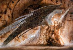 An appreciation of dark fantasy art - Ann Stokes, Victoria Frances, Luis Royo Dark Fantasy Art, Fantasy Artwork, Dark Art, Fantasy Girl, Fallen Angel Art, Nephilim Giants, Fantasy Posters, Luis Royo, Angels And Demons