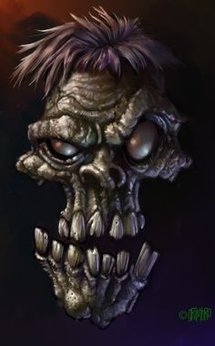 ☆ Zombie Head :¦: By Grimbro ☆