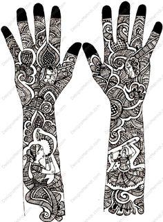 mehandi designs | Dashing Rajasthani Bridal Mehndi Design by Yasmin Sulthana | Designs ...