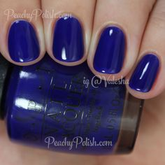 OPI My Car Has Navy-gation | Summer 2015 Brights Collection | Peachy Polish - I don't know that it's that unique, but I really this blue!