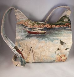 **SOLD** Nautical Tapestry Purse by JenuineCollection on Etsy