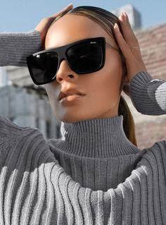 e9b0538254 Quay X Desi OTL II Sunglasses Black Smoke Quay Sunglasses