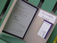 sewn wedding invitation
