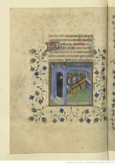 Horae ad usum Briocensem. -- 1410-1430 -- manuscrits  Capital is almost an escarbuncle