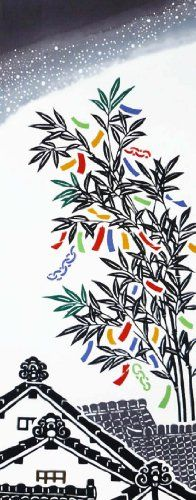 Chusen TENUGUI Tanabata 37 x 98cm Tanabata: Star festival