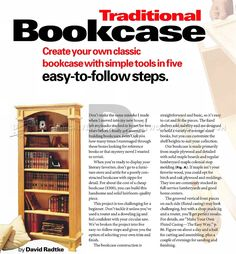 Traditional Bookcase Plans