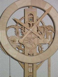 Free Wooden Gear Clock Plans For some great woodworking help check out www.WoodworkerPlans.org/How-To-Build-Anything-p.
