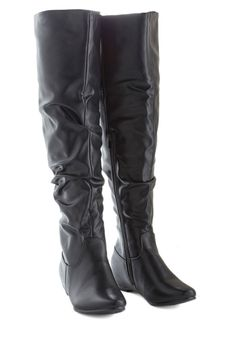 Preferred Pair Boot. To call these black over-the-knee boots your favorite is an understatement! #black #modcloth