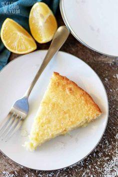 An easy lemon coconut custard pie with coconut milk