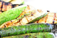 Simple Grilled Zucchini Recipe from addapinch.com