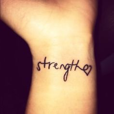 Strength Quote Tattoo