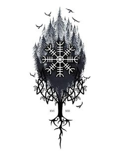 Viking Tattoo Sleeve, Viking Tattoo Symbol, Wolf Tattoo Sleeve, Norse Tattoo, Sleeve Tattoos, Viking Tattoos For Men, Tattoos For Guys, Mandala Hand Tattoos, Scandinavian Tattoo