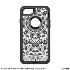 Black And White Mandala Pattern OtterBox Defender iPhone 7 Case