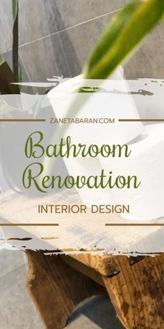 #BathroomRenovation in a natural and #SPA style. Little #jungle, cement on the walls, big bath, open shower, two sinks and wooden furniture. Check it out! #bathroommakeover #bathroomdecor