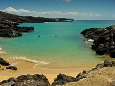 Ascension Island, South Atlantic Ocean. Golf course is in Guiness Book of Records for being the worst in the world. Zip on the island bar one shop and one pub and military