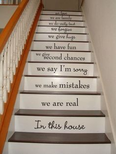 In this house STAIRS stairway Vinyl Decal Vinyl Decal Home Decor Door Wall Lettering Words Quotes Understairs Storage Decal Decor Door home House Lettering Quotes stairs Stairway Vinyl wall Words Staircase Decals, Staircase Design, Book Staircase, Staircase Pictures, Stair Design, Modern Staircase, Stair Quotes, Stair Decor, Decorating Stairs