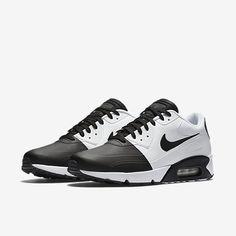 Cheap Nike Air Max 90 Ultra 2 Se Black White Sale Nike Air Max Trainers, Air Max Sneakers, Shoes Sneakers, Black And White Trainers, Black White, Black Running Shoes, Black Shoes, Sneaker Games, Cheap Nike Air Max