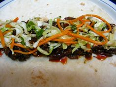 ***I Believe I Can Fry: Slow-Cooker Korean Beef Tacos w/ Kimchi, Gochujang BBQ Sauce, Asian Slaw & Quick Pickles***
