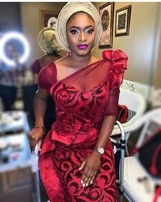 Latest collection of beautiful wedding guest aso ebi styles of 2018 that is very perfect for you, try these wedding guest aso ebi styles Nigerian Lace Styles, African Lace Styles, African Lace Dresses, Latest African Fashion Dresses, Nigerian Dress, African Inspired Fashion, African Print Fashion, Africa Fashion, African Prints