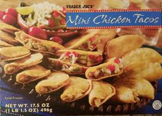 Trader Joe's Mini Chicken Tacos are perfect for appetizers or a light dinner. A full review of the chicken variety of Trader Joe's Mini Tacos.